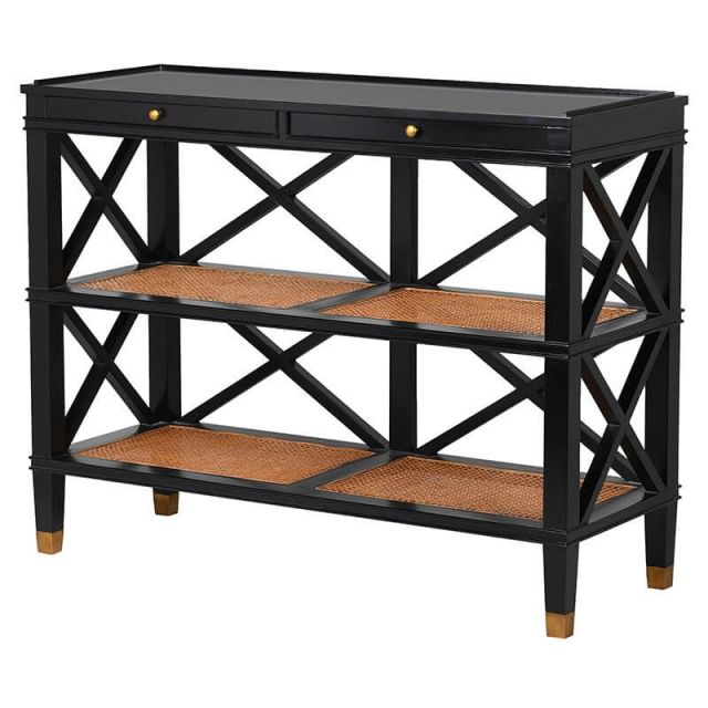 Pavilion Chic Console Table Baku with Shelves