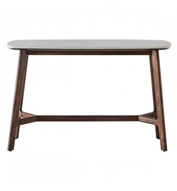 Pavilion Chic Console Table Plaza with Marble Top