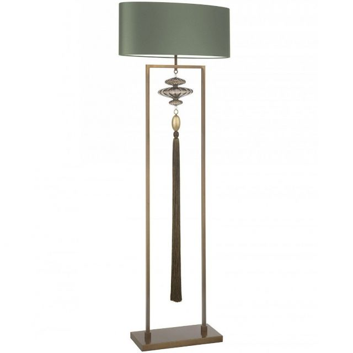 Heathfield & Co. Constance Antique Brass Floor Lamp