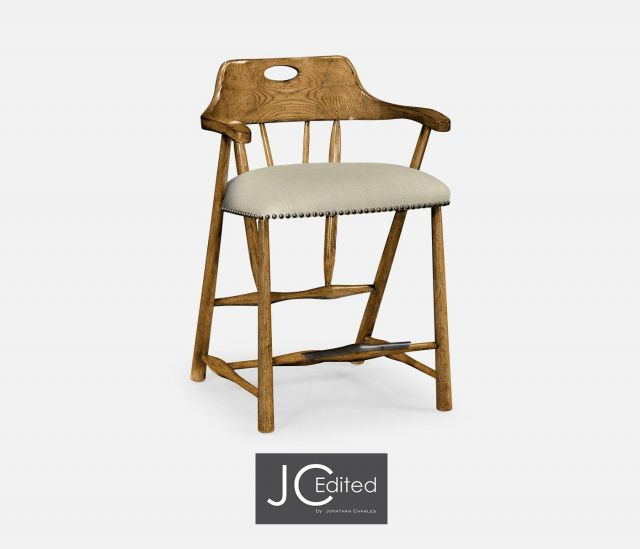 Jonathan Charles Counter Stool Smokers Style in Chestnut