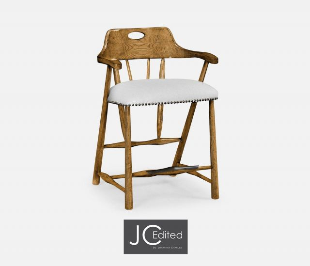 Jonathan Charles Counter Stool Smokers Style in Chestnut - COM