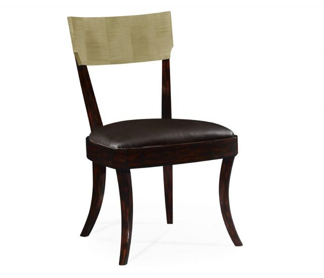 Jonathan Charles Dining Chair Art Deco in Champagne