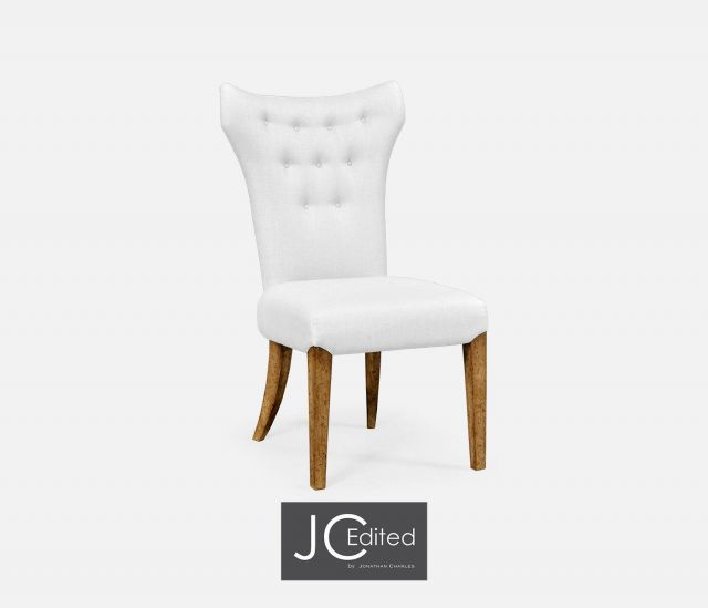 Jonathan Charles Winged Dining Chair with Chestnut Leg - COM