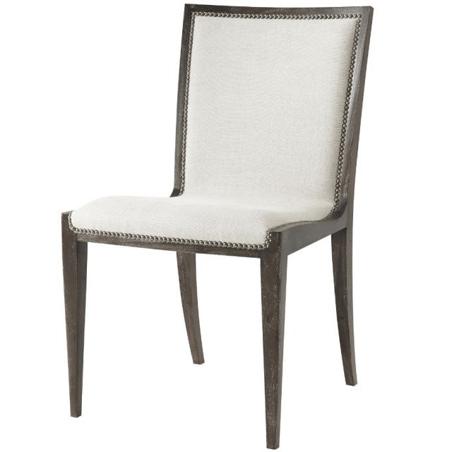 Theodore Alexander Dining Chair Martin in Matrix Marble