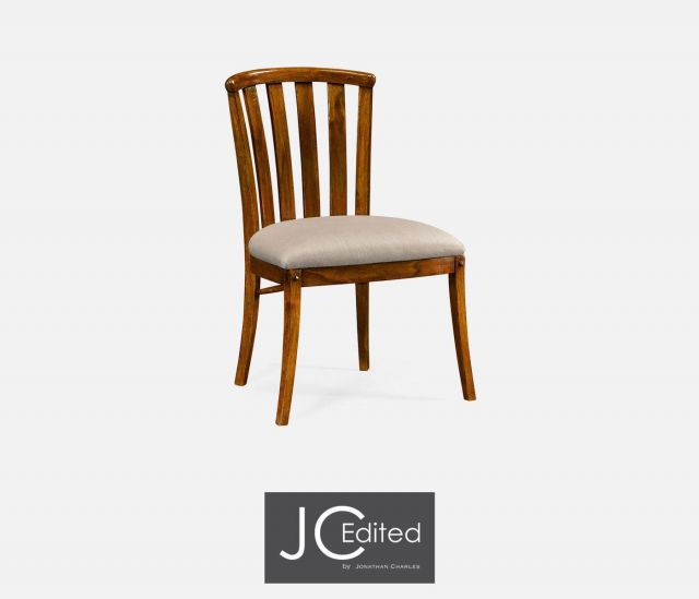 Jonathan Charles Dining Chair Rustic Curved Back in Mazo