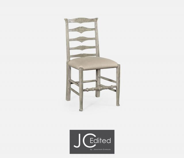 Jonathan Charles Dining Chair Rustic Ladder Back in Mazo