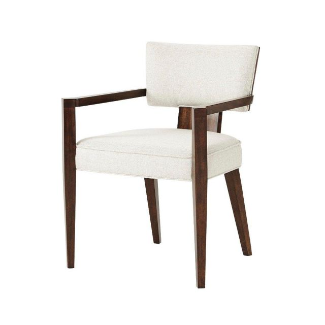 Theodore Alexander Dining Chair with Arm 55 Broadway in Matrix