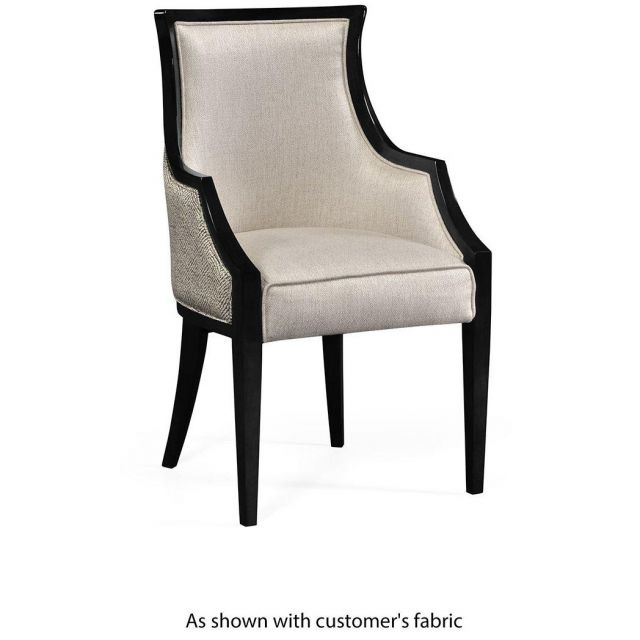 Jonathan Charles Dining Chair with Arms Smoked Grey Eucalyptus in COM