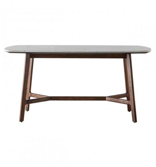 Pavilion Chic Dining Table Plaza with Marble Top