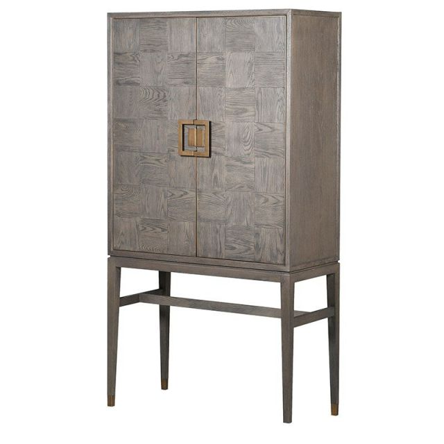 Pavilion Chic Drinks Cabinet Cali in Oak