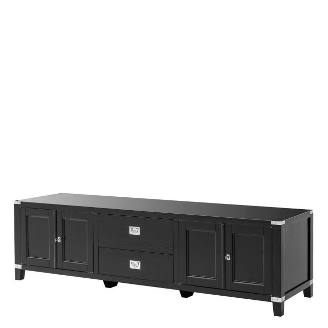 Eichholtz Tv Cabinet Military - Black Finish