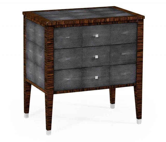 Jonathan Charles Bedside Chest of Drawers Shagreen