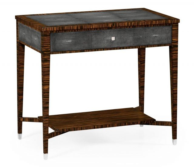 Jonathan Charles End Table with Drawer Shagreen