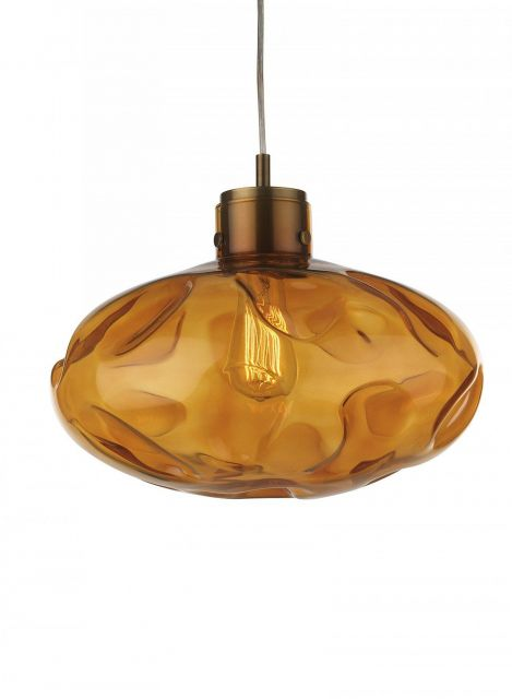 Heathfield & Co. Leoni Amber Ceiling Pendant Light