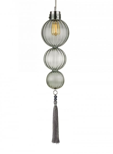 Heathfield & Co. Medina Polished Nickel Ceiling Pendant Light