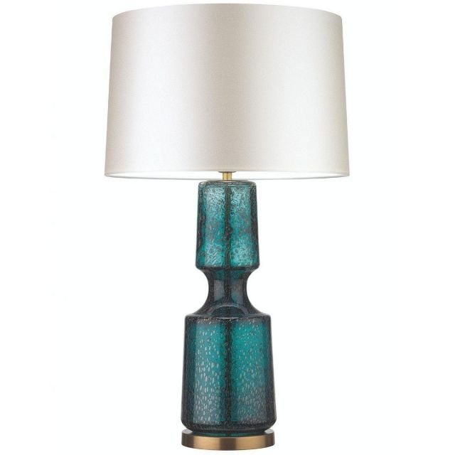 Antero Teal Glass Table Lamp