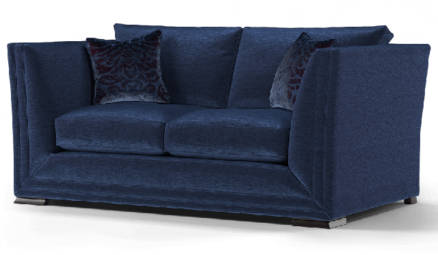 Duresta Hollister 2 Seater Sofa Chelsea Navy