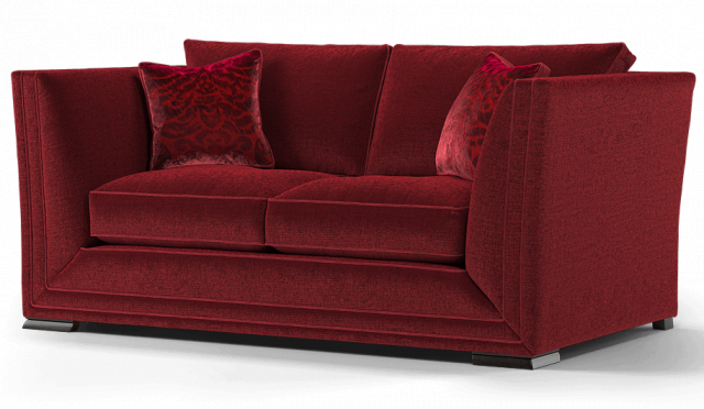 Duresta Hollister 2 Seater Sofa Ombre Claret