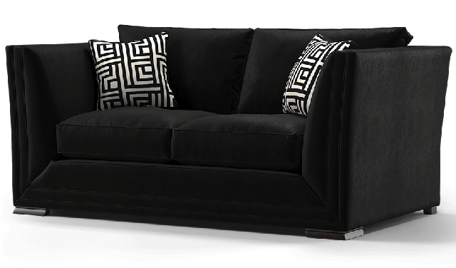 Duresta Hollister 2 Seater Sofa Positano Black
