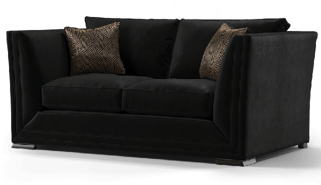 Duresta Hollister 2 Seater Sofa Positano Black 2