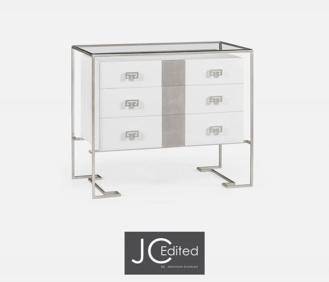 Jonathan Charles Chest of Drawers Hestia in White