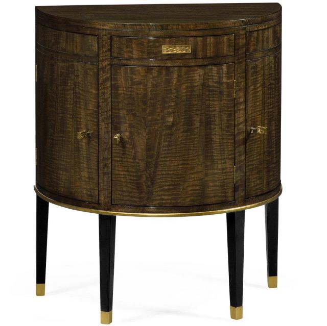 Jonathan Charles Demilune Cabinet in Coffee Bean Eucalyptus