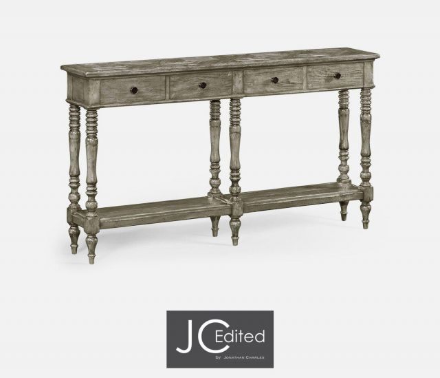 Jonathan Charles Console Table with Drawers Parquet