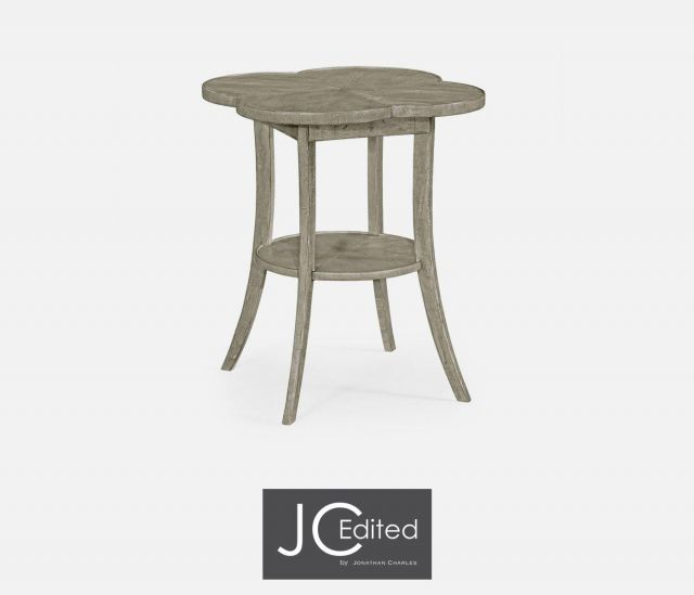 Jonathan Charles Quatrefoil Lamp Table Rustic