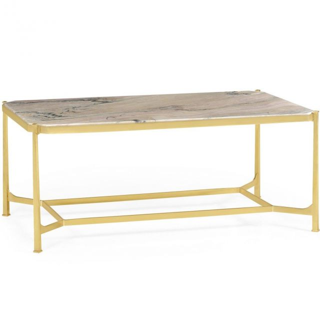 Jonathan Charles Coffee Table Contemporary with Brass Base