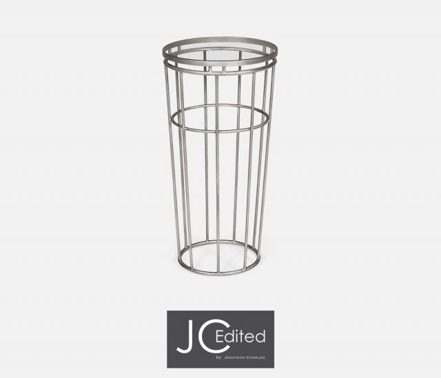 Jonathan Charles End Table Hestia in Silver