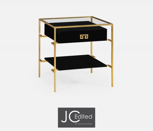 Jonathan Charles Side Table Hestia in Black