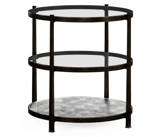 Jonathan Charles Round Side Table Contemporary Three-tier