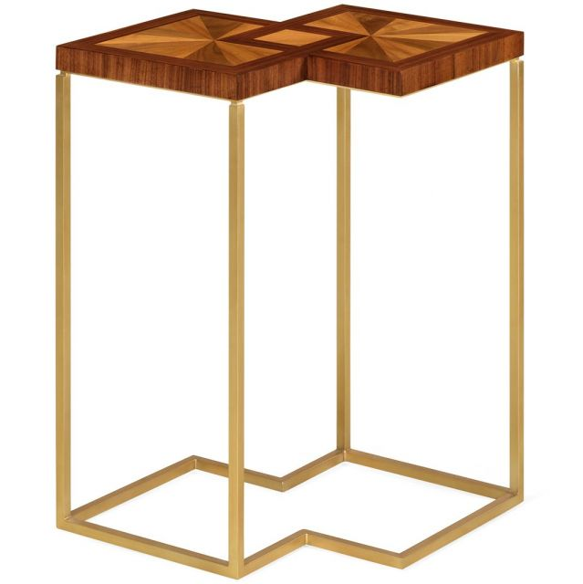Jonathan Charles Side Table Double Diamond Bookmatched