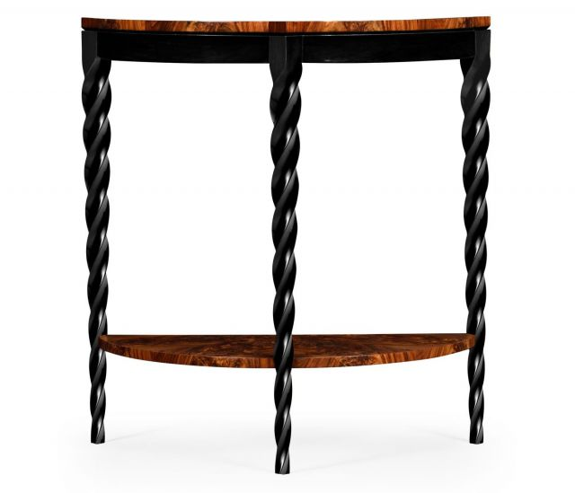 Jonathan Charles Demilune Console Table Barley