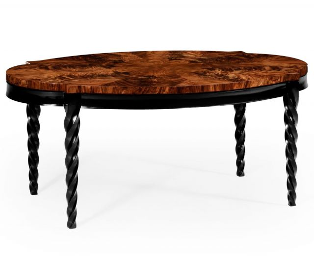 Jonathan Charles Oval Coffee Table Barley