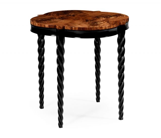 Jonathan Charles Large Quatrefoil Side Table Barley