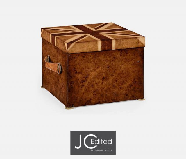 Jonathan Charles Decorative Box Union Jack in Medium Walnut