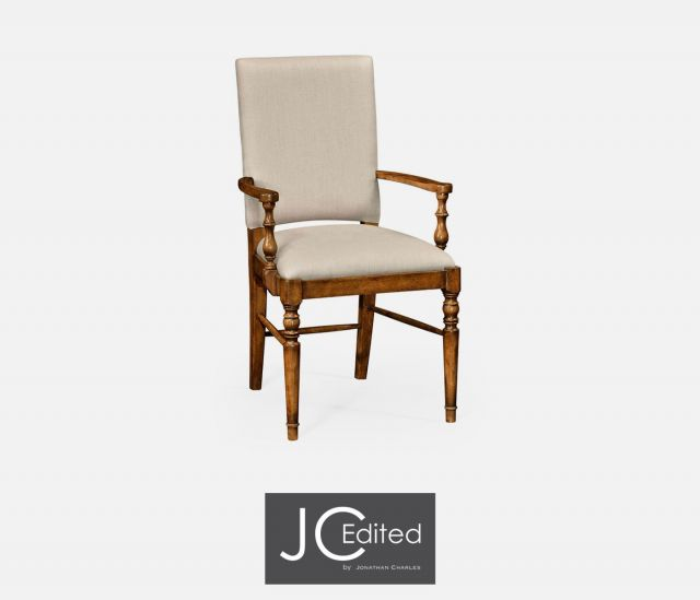 Jonathan Charles Dining Chair with Arms Rustic in Mazo