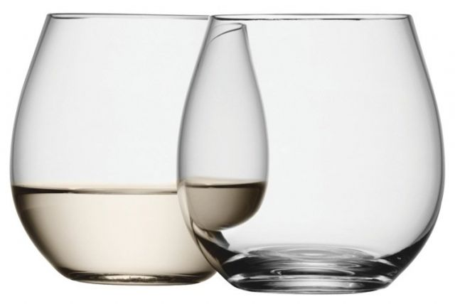 LSA International Wine Stemless White Wine Glass Set