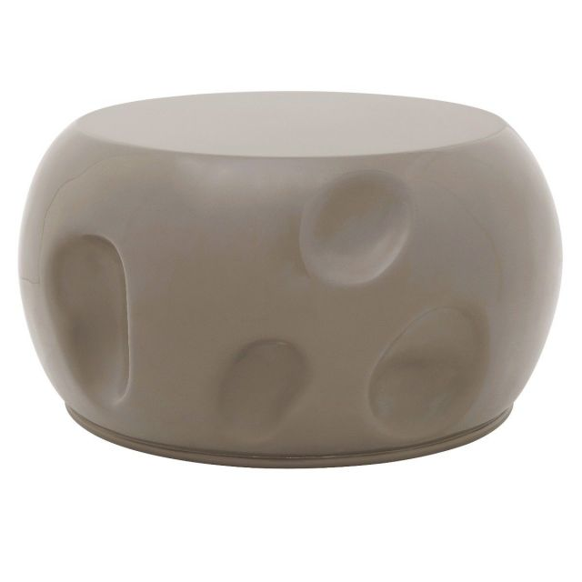 Theodore Alexander Round Coffee Table Dimple in Graystone