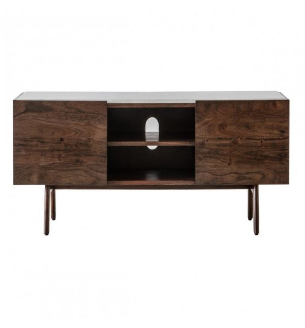 Pavilion Chic Media Unit Plaza with Marble Top
