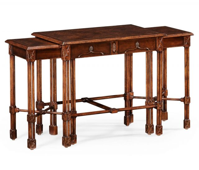 Jonathan Charles Nesting Tables Chippendale Gothic