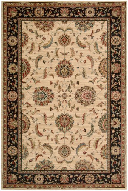 Nourison Rug Living Treasures - Ivory/Black