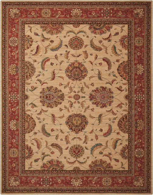 Nourison Rug Living Treasures - Ivory/Red