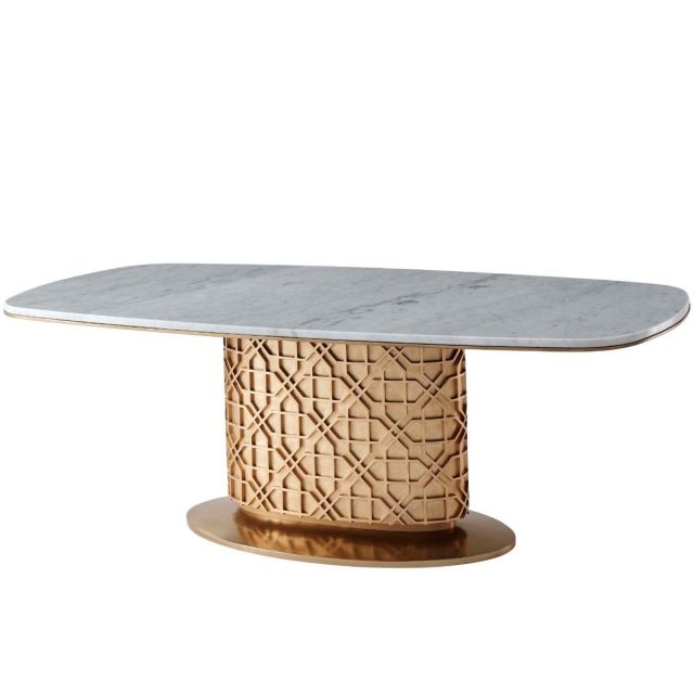 Theodore Alexander Colter Dining Table in Marble