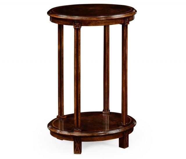 Jonathan Charles Oval Side Table Chippendale Gothic