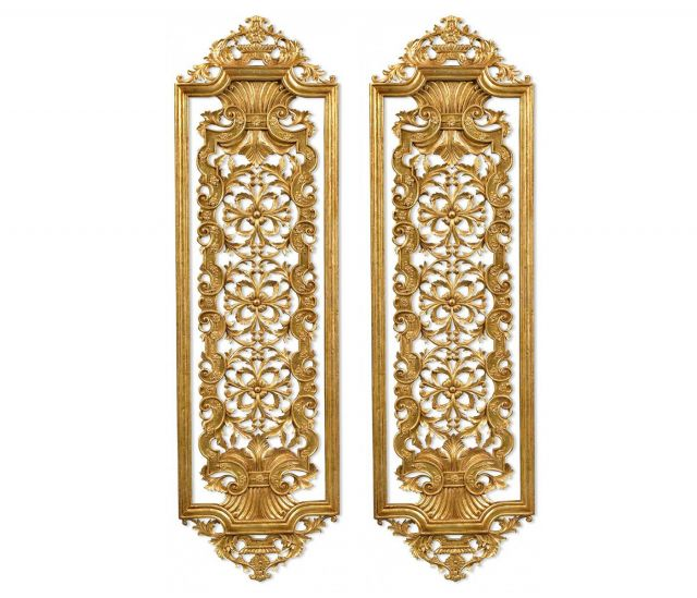 Jonathan Charles Decorative Wall Panels Renaissance Set of 2 - Tall