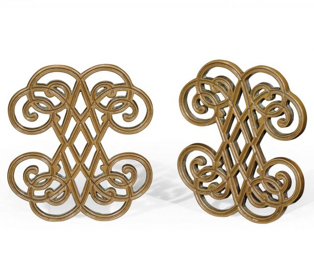 Jonathan Charles Bookends Manuscript in Brass