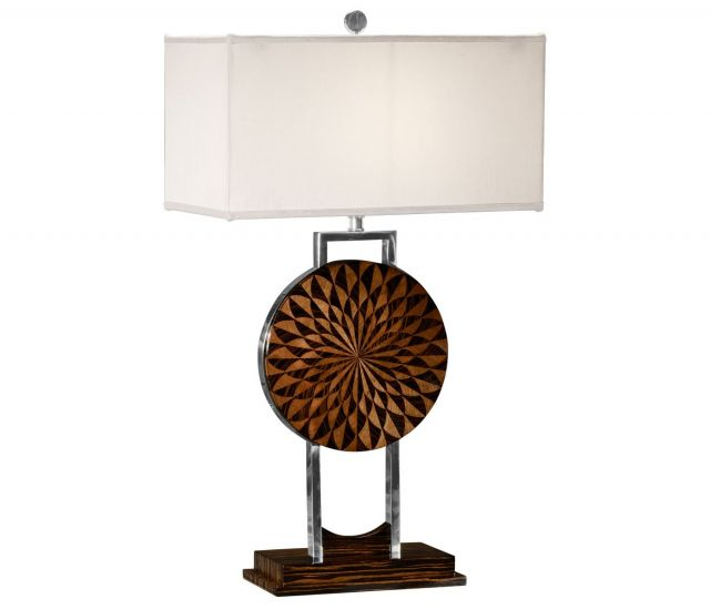 Jonathan Charles Table Lamp Pangolin in Macassar Ebony