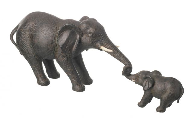Parlane Deco Elephant Nelly Set Of 2 Brown Height 20cm
